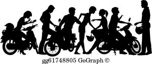 Clipart gangs image library library Gang Clip Art - Royalty Free - GoGraph image library library
