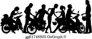 Gangs clipart clipart transparent Gang Clip Art - Royalty Free - GoGraph clipart transparent