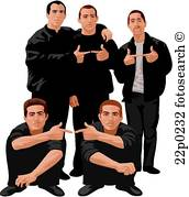 Clipart gangs image library download Gang Clipart Vector Graphics. 3,364 Gang E #286113 - Clipartimage.com image library download