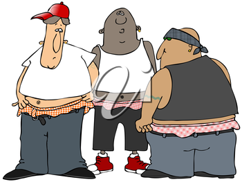 Clipart gangs graphic library Royalty Free Clipart Image of a Group of Gang Members #733773 ... graphic library