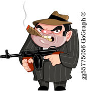 Clipart gangsters image library download Gangster Clip Art - Royalty Free - GoGraph image library download