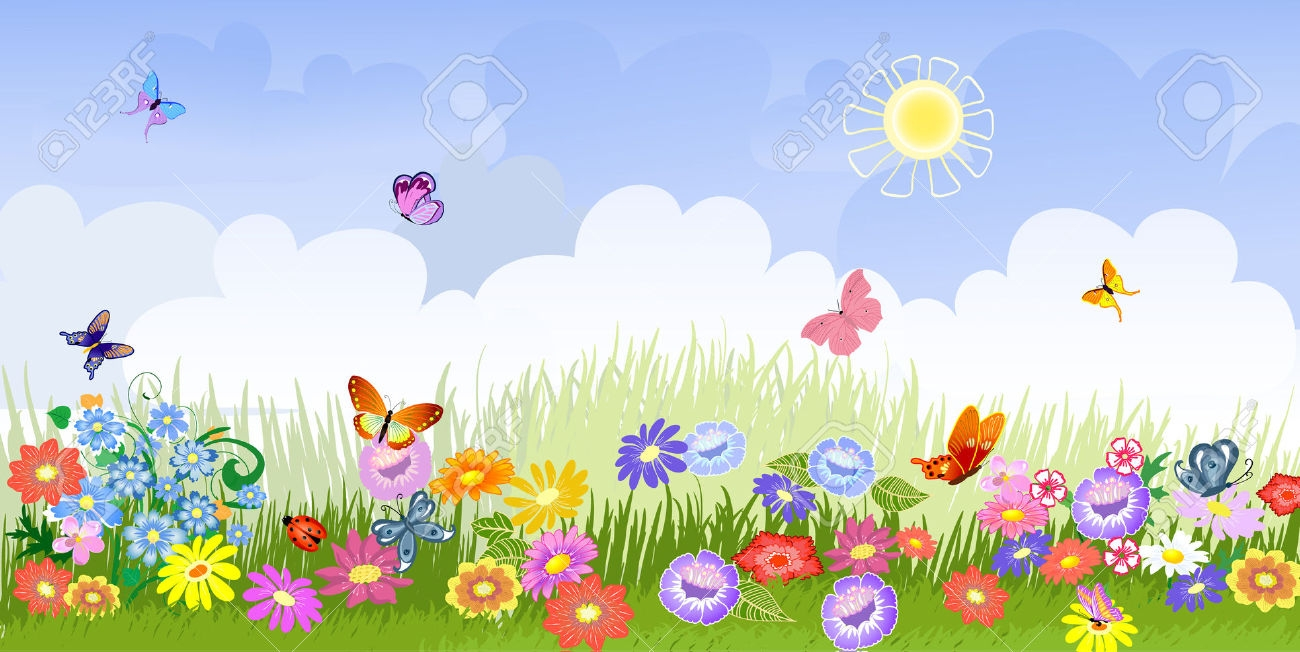 Clipart garden background hd picture freeuse download Flower Garden Background Clipart picture freeuse download