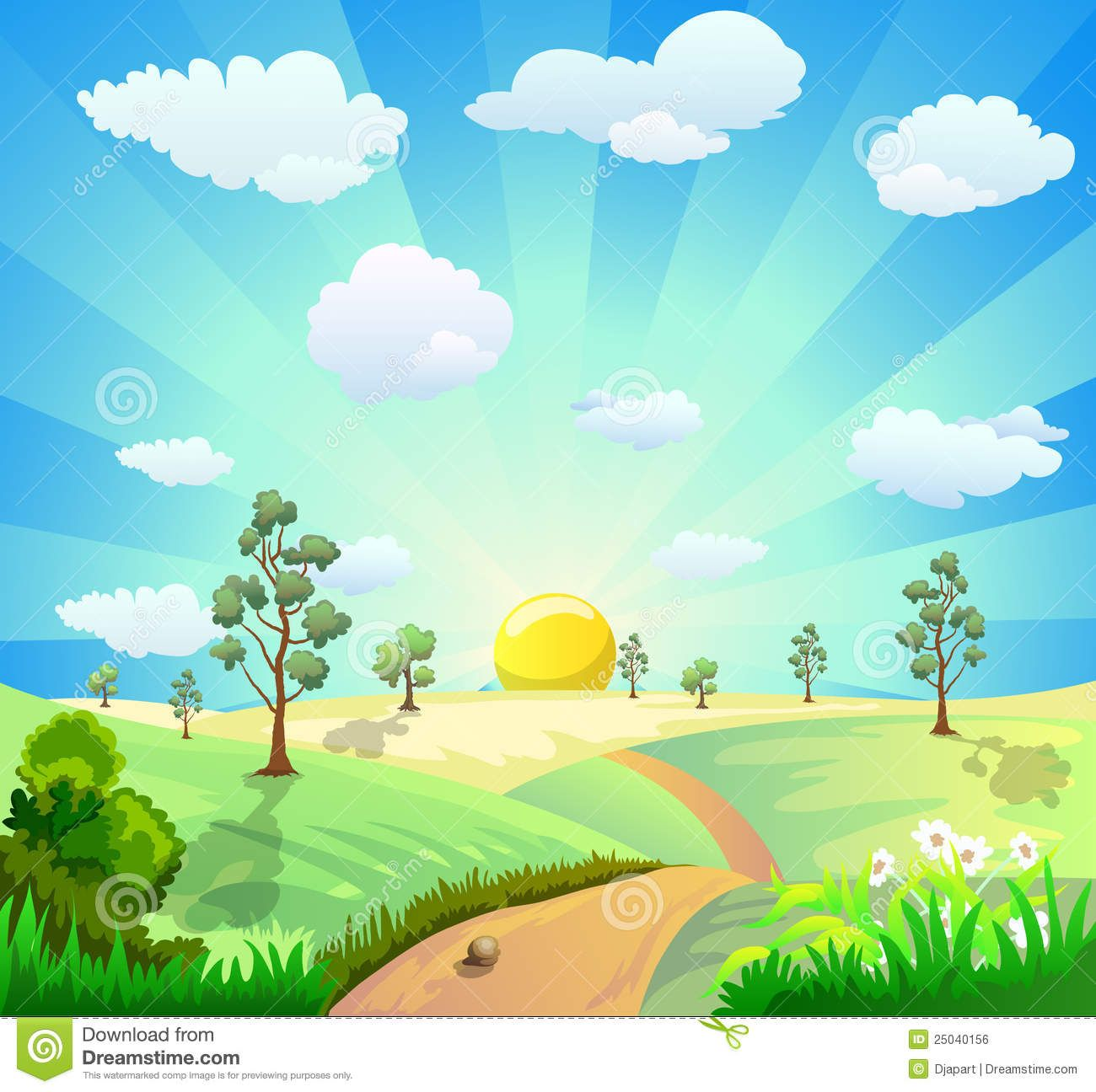 Clipart garden background hd clipart transparent download Cartoon Landscape Background Royalty Free Stock Image - Image ... clipart transparent download