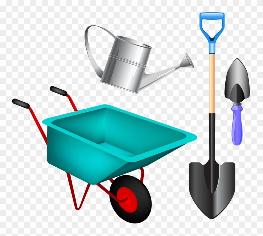 Wheelbarrow with tools clipart vector transparent stock Clip Art - Gardening Tools Clipart Png Transparent Png (#214669 ... vector transparent stock