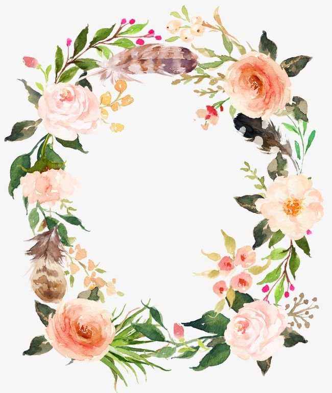 Clipart garland roses free png picture transparent Fresh Pink Flowers Garland, Watercolor Flowers, Retro Flowers, Fresh ... picture transparent