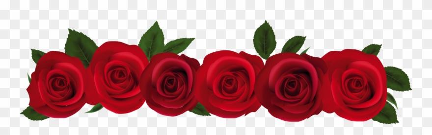 Rose flower border clipart svg library stock Roses Rose Garland Frame Clipart Clipart Kid - Rose Flower Border ... svg library stock