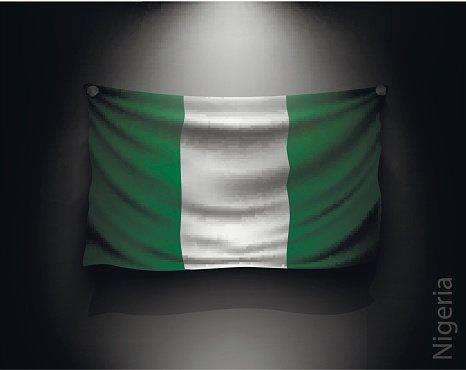 Clipart gas nigeria graphic freeuse download Waving Flag Nigeria ON A Dark Wall premium clipart - ClipartLogo.com graphic freeuse download