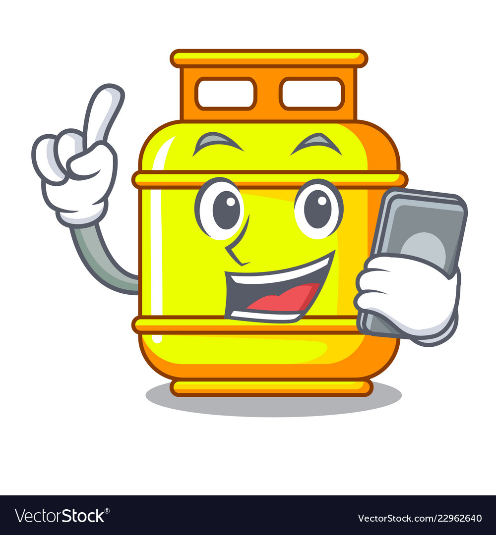 Clipart gas phone number library With phone flammable gas tank on cartoon the library