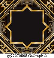 Clipart gatsby banner royalty free download Great Gatsby Clip Art - Royalty Free - GoGraph banner royalty free download