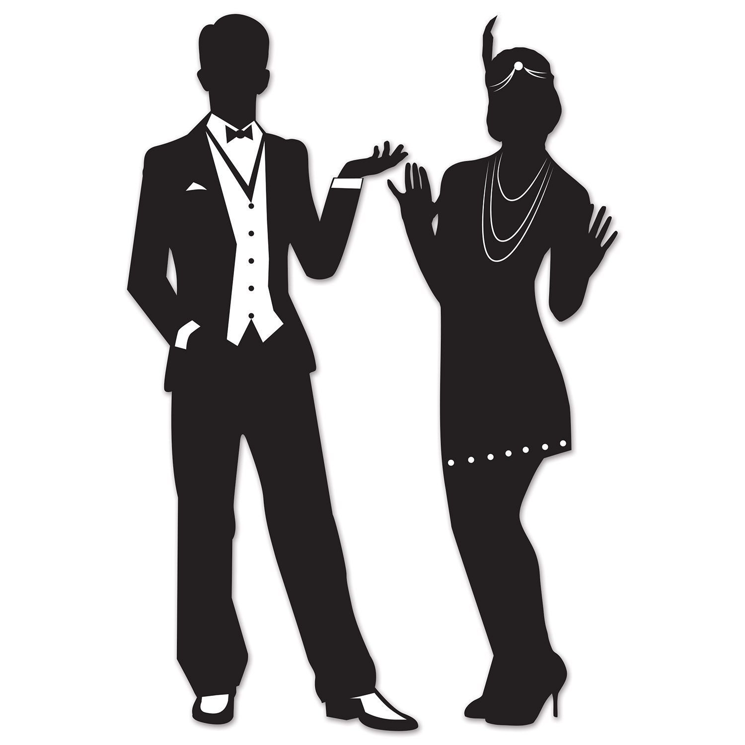 Clipart gatsby picture black and white library Image result for 1920s couple clipart | Speakeasy Party | Roaring ... picture black and white library