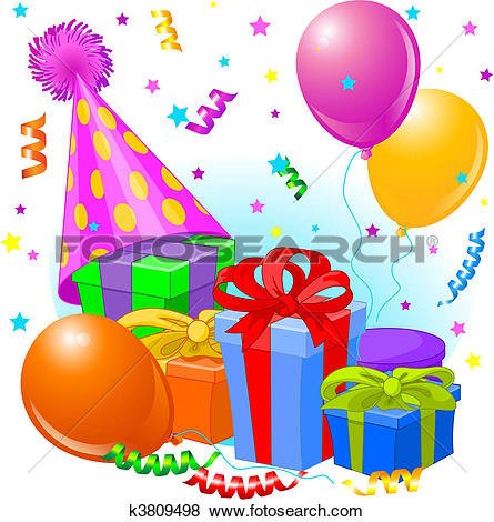Clipart geburtstag png library stock Clipart of Birthday k2544422 - Search Clip Art, Illustration ... png library stock
