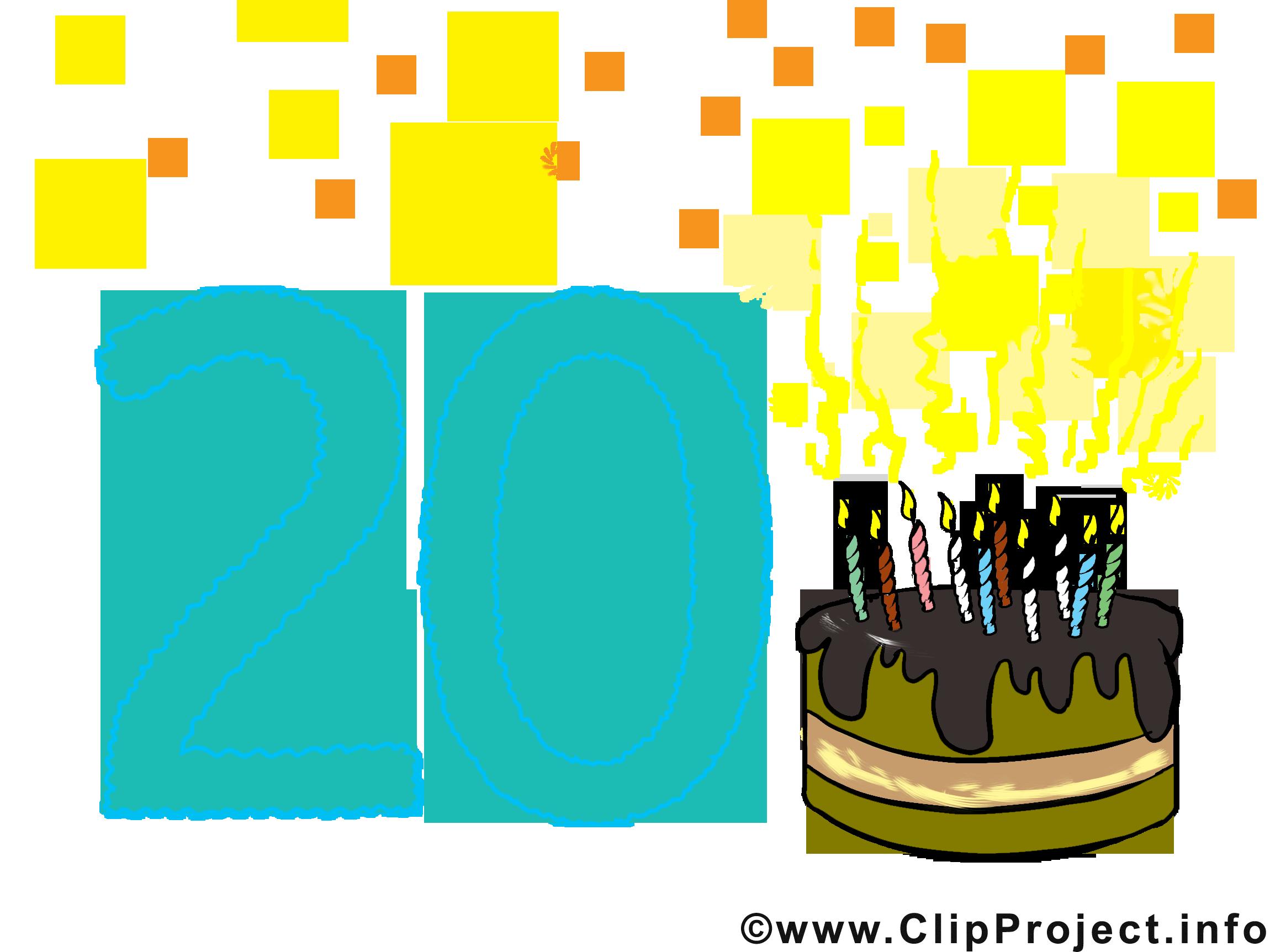 Cliparts zum 18 geburtstag graphic transparent Zum 20. Geburtstag Karte, Clipart, Bild, Cartoon lustig graphic transparent