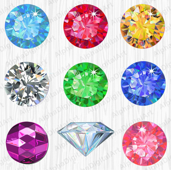Clipart gem graphic stock 9 Gems Clipart,Gem Rings Clipart, Digital Gems, Pearls Clipart ... graphic stock