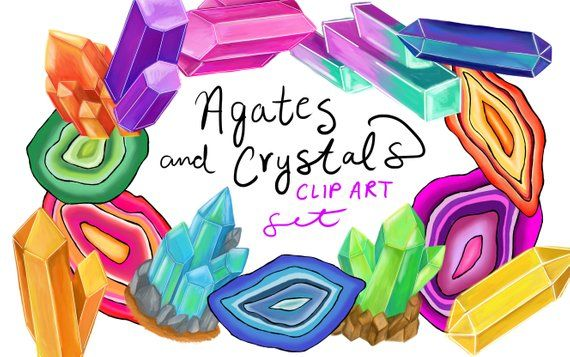 Clipart geodes clip transparent Geodes and Crystals clip art, hand drawn clip art, geode clip art ... clip transparent