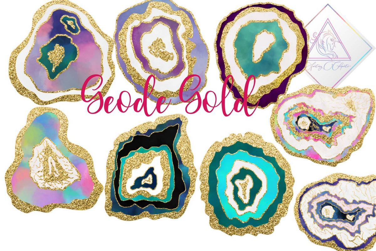 Clipart geodes clip free Geode Gold Clipart clip free
