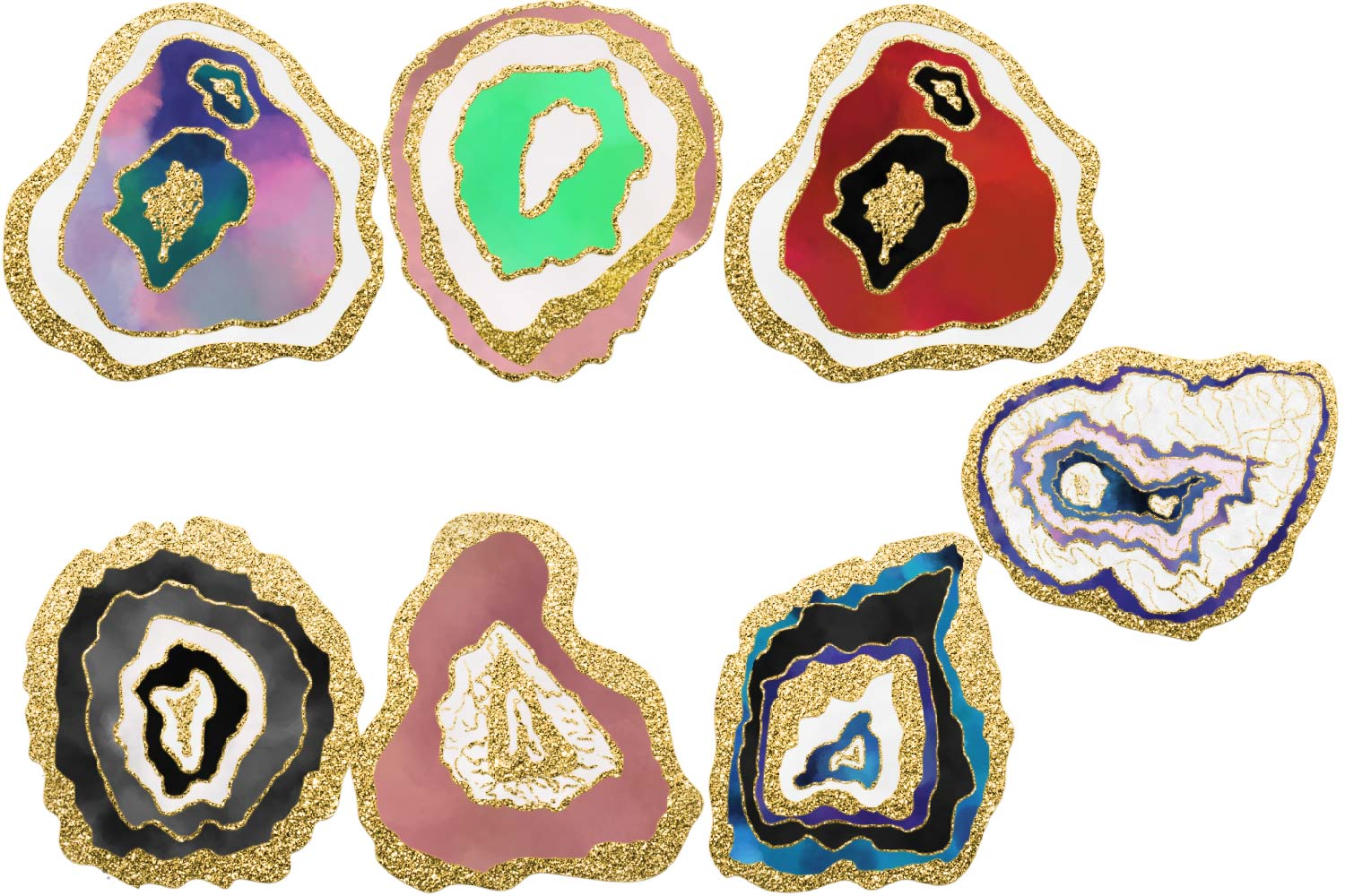 Clipart geodes jpg black and white Geode Gold Clipart jpg black and white