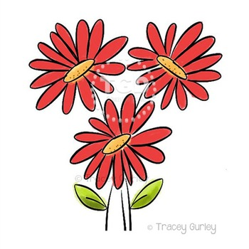 Clipart gerbera daisy jpg royalty free library Red Gerbera Daisy Bouquet - red gerbera daisy clip art Tracey Gurley Designs jpg royalty free library