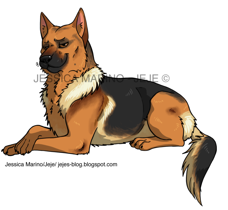 Clipart german shepherd dog graphic black and white library 28+ Collection of Anime German Shepherd Drawing | High quality, free ... graphic black and white library