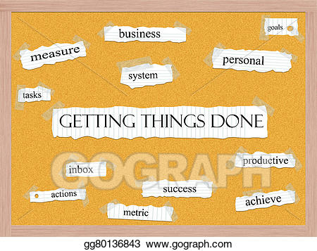 Clipart get things done jpg free stock Stock Illustration - Getting things done corkboard word concept ... jpg free stock