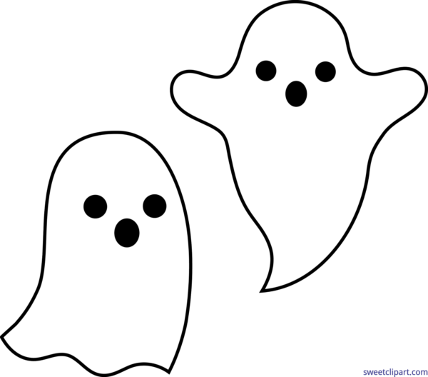 Halloween ghosts clipart picture black and white All Clip Art Archives - Page 52 of 62 - Sweet Clip Art picture black and white