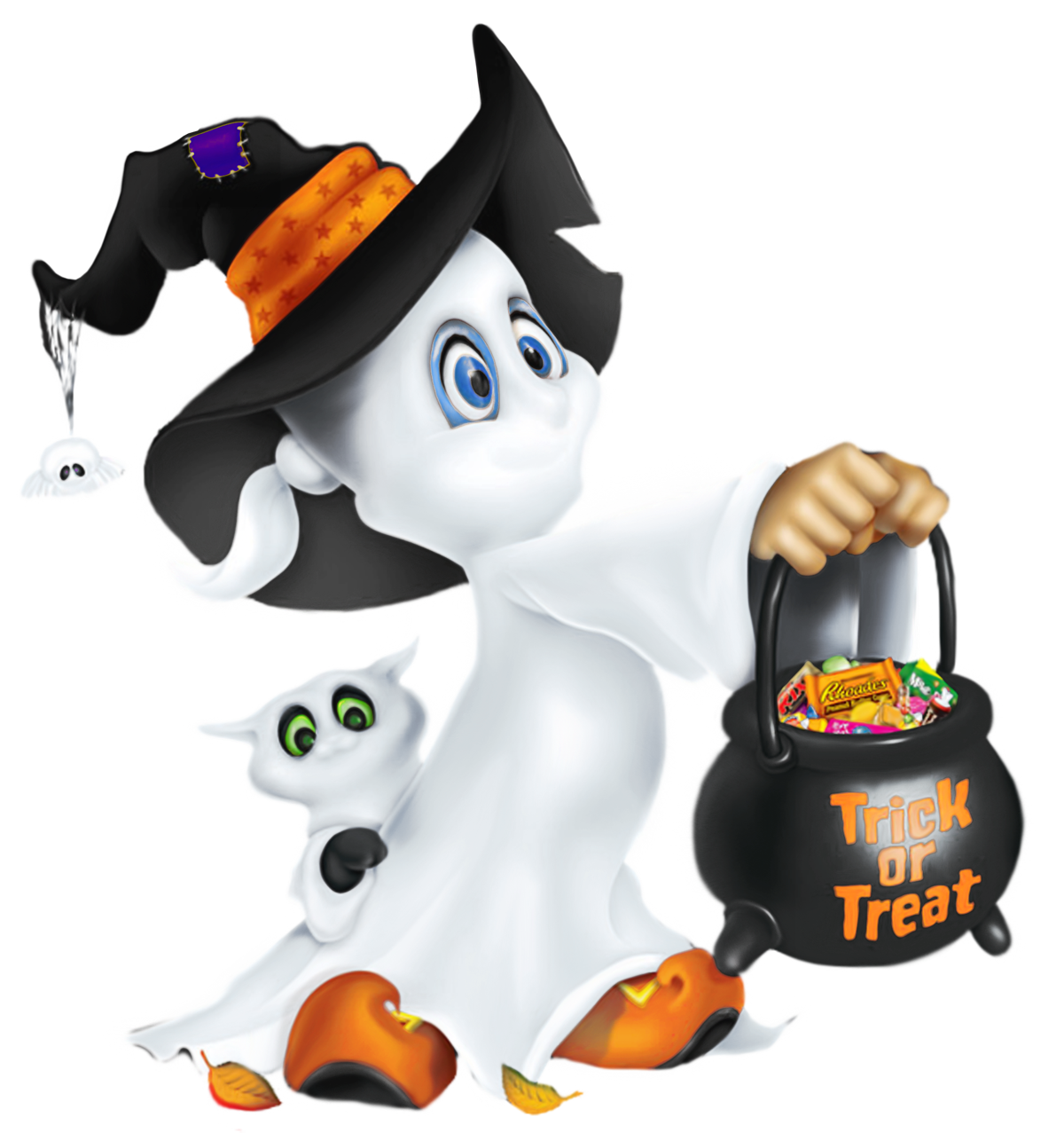 Cute halloween ghosts clipart clipart library library Cute Halloween Ghost Clipart | Gallery Yopriceville - High-Quality ... clipart library library