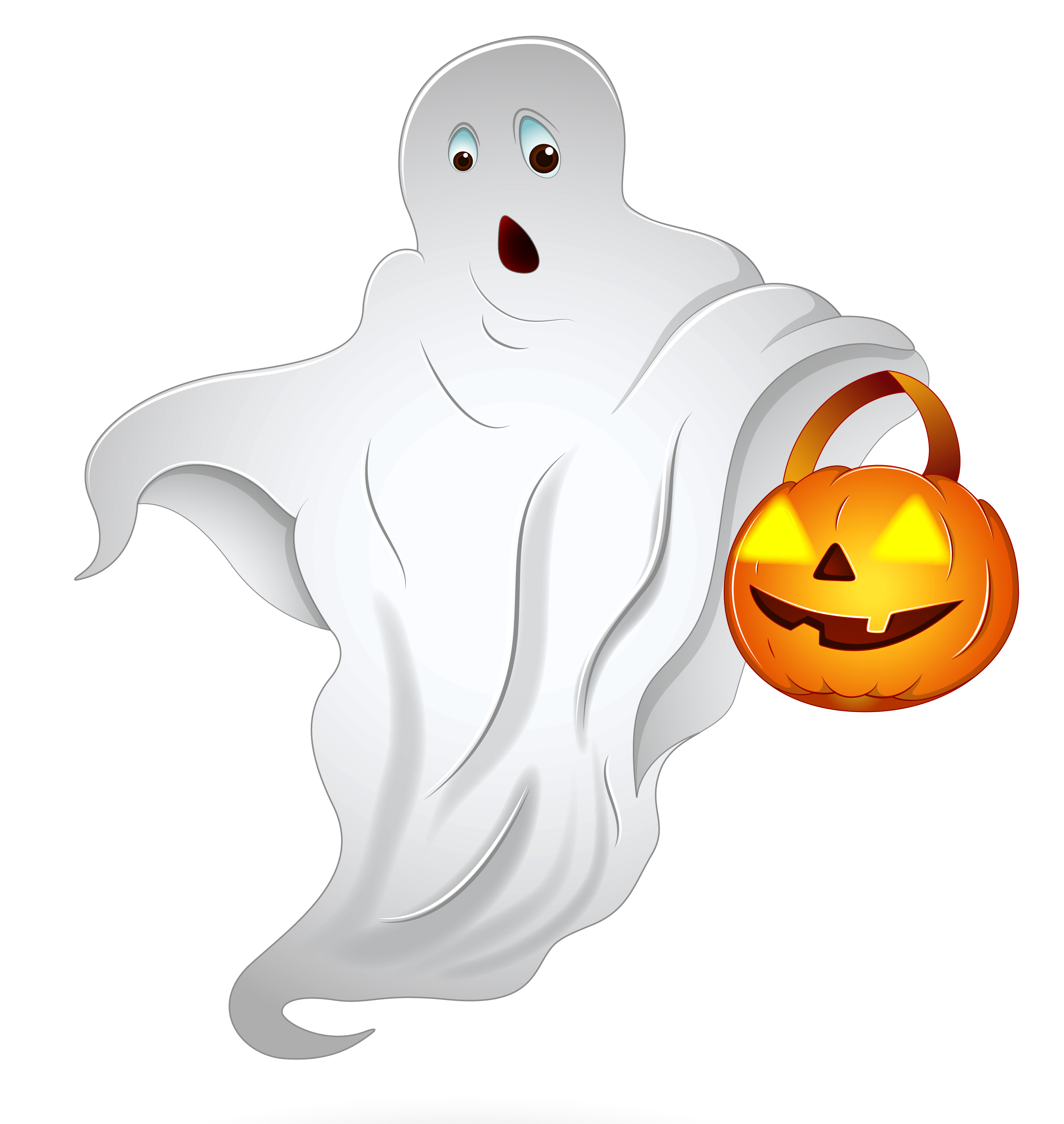 Clipart halloween ghost clip art stock Halloween Ghost with Pumpkin Basket PNG Clipart | Gallery ... clip art stock