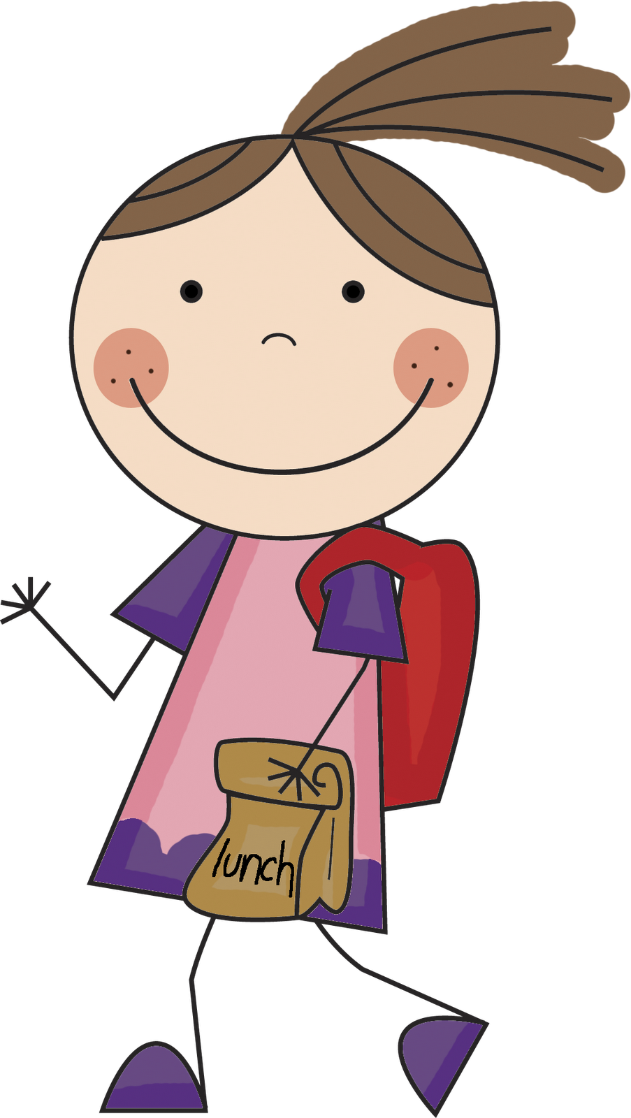 Girl going to school clipart jpg transparent library ☽ ̍̑⚈͜ ̍̑☾) Back To School | SCHOOL & BULLETIN BOARDS ... jpg transparent library