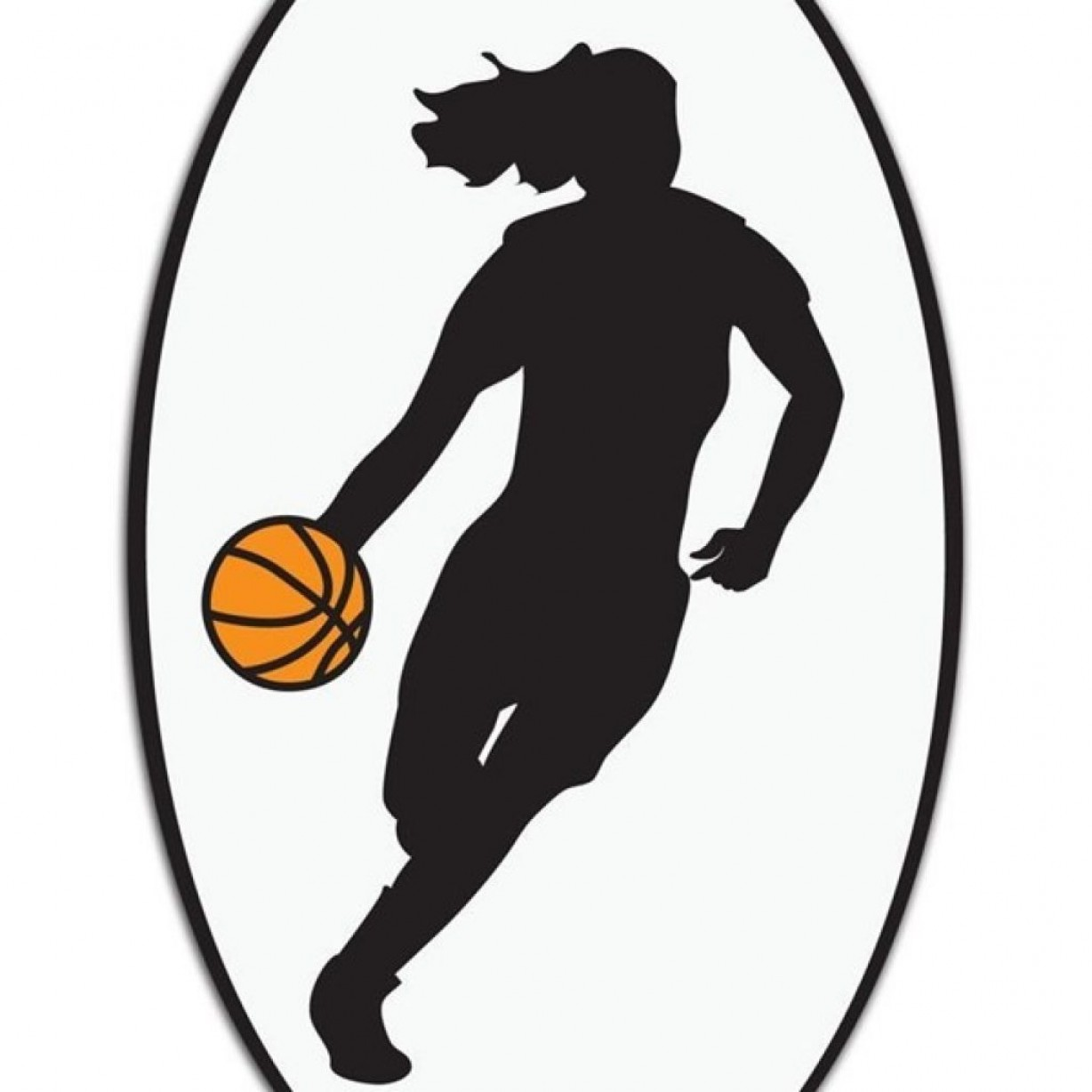 Clipart girl basketball player vector freeuse library Girls Basketball Clip Art Valentines Day Clipart | SOIDERGI vector freeuse library