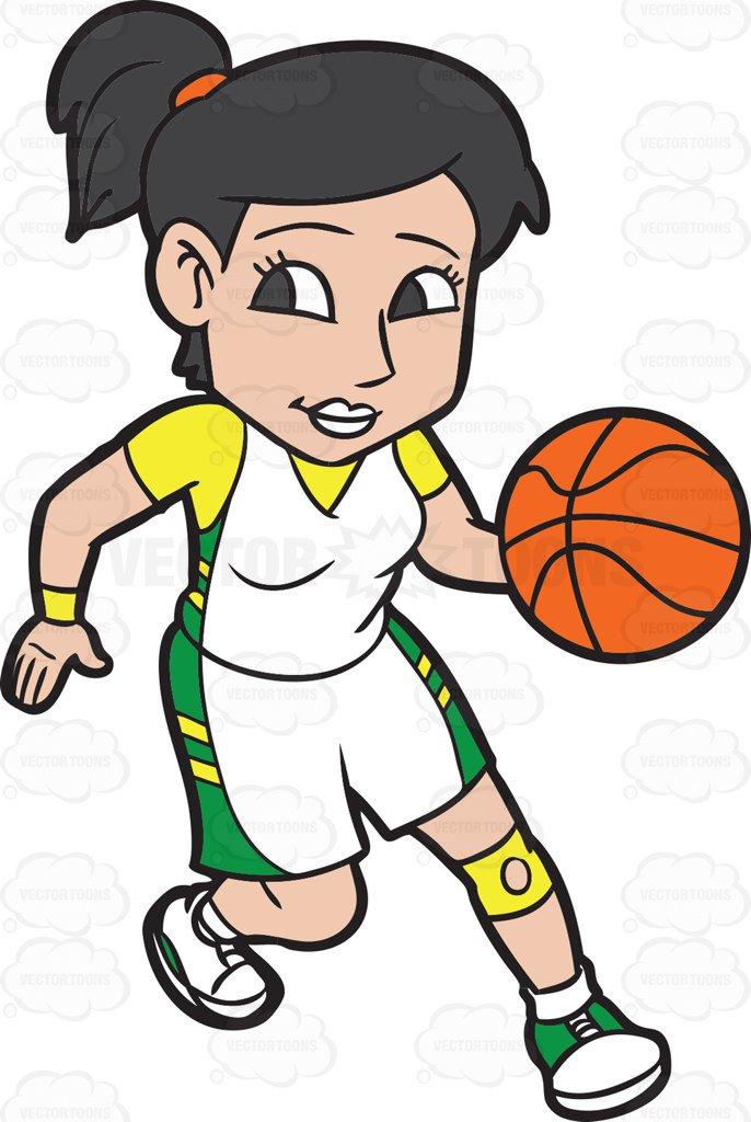 Clipart girl basketball player banner royalty free download Girl basketball player clipart 3 » Clipart Station banner royalty free download
