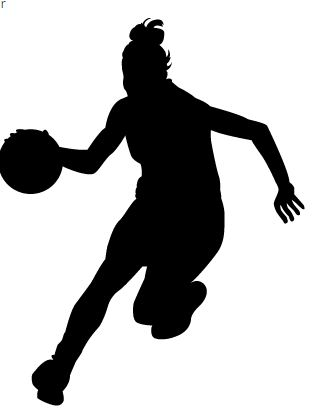 Clipart girl basketball player svg freeuse girl-basketball-player-clipart | Afro svg freeuse