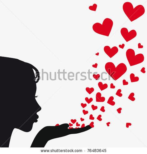 Clipart girl blowing hearts valentine jpg download Clipart girl blowing hearts valentine - ClipartFest jpg download