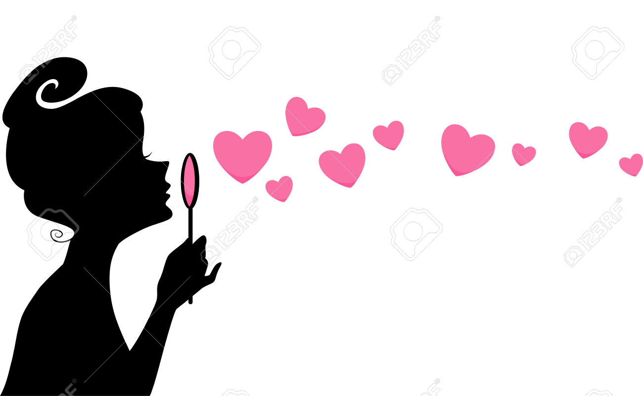 Clipart girl blowing hearts valentine picture royalty free library Clipart girl blowing hearts - ClipartFox picture royalty free library