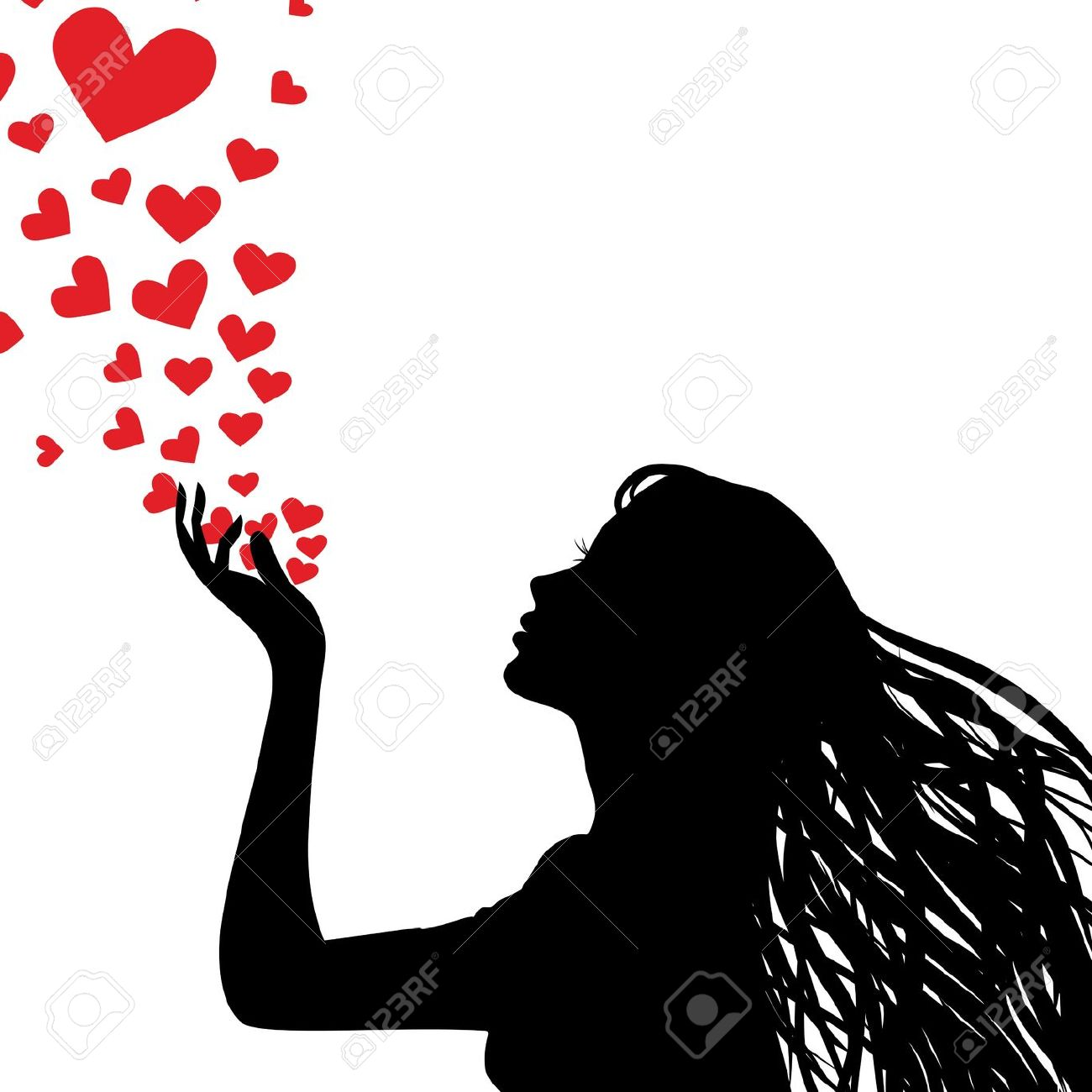 Clipart girl blowing hearts valentine vector royalty free Clipart girl blowing hearts - ClipartFox vector royalty free