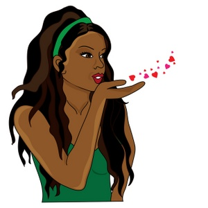 Clipart girl blowing hearts valentine library Clipart girl blowing hearts valentine - ClipartFest library