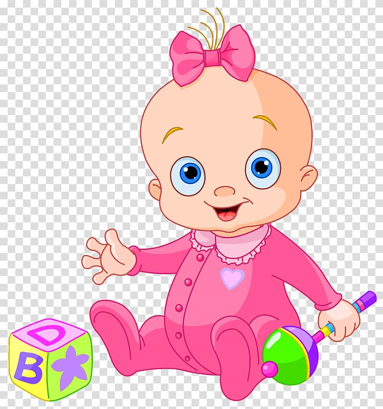 Clipart girl child clip art free Baby playing illustration, Infant Girl , Baby girl playing with toys ... clip art free