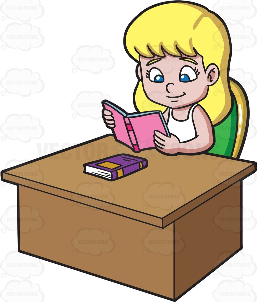 Clipart girl doing homework png free download At Clipart Of A Girl Reading Book Kids Doing Homework Collection 005 ... png free download