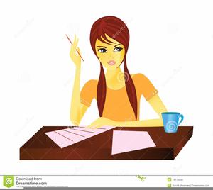 Clipart girl doing homework jpg black and white stock Girl Doing Homework Clipart | Free Images at Clker.com - vector clip ... jpg black and white stock