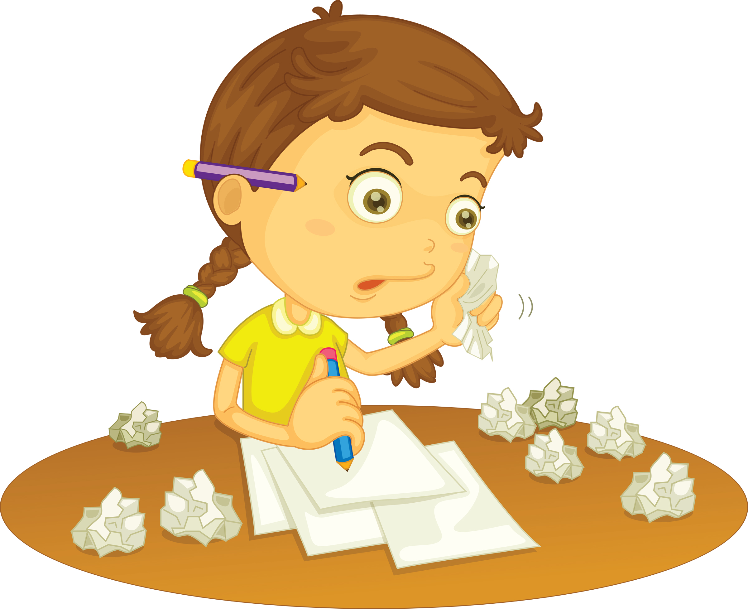 Clipart girl doing homework clip library Doing homework homework clip art for kids free clipart images 8 ... clip library