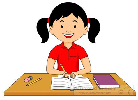 Clipart girl doing homework png free library Do Your Homework Clip Art - Hawthorneatconcord png free library