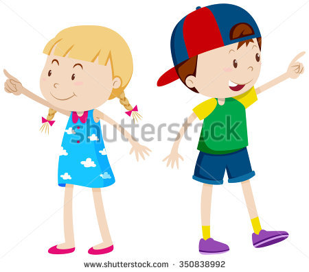 Clipart girl facing left image library Child Pointing Stock Images, Royalty-Free Images & Vectors ... image library