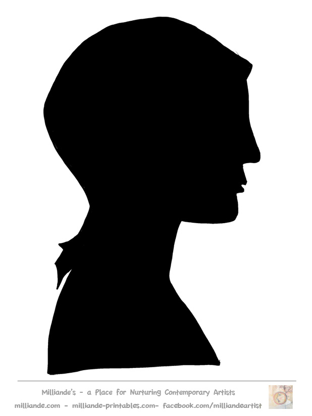 Clipart girl facing left picture freeuse download Face Silhouette Templates Printable,Face Stencils,Face Templates ... picture freeuse download