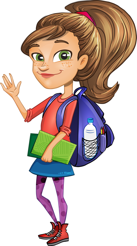 Girl getting ready for school clipart png stock Vector Girl Student.png | Pinterest | Clip art, Clip art school and ... png stock