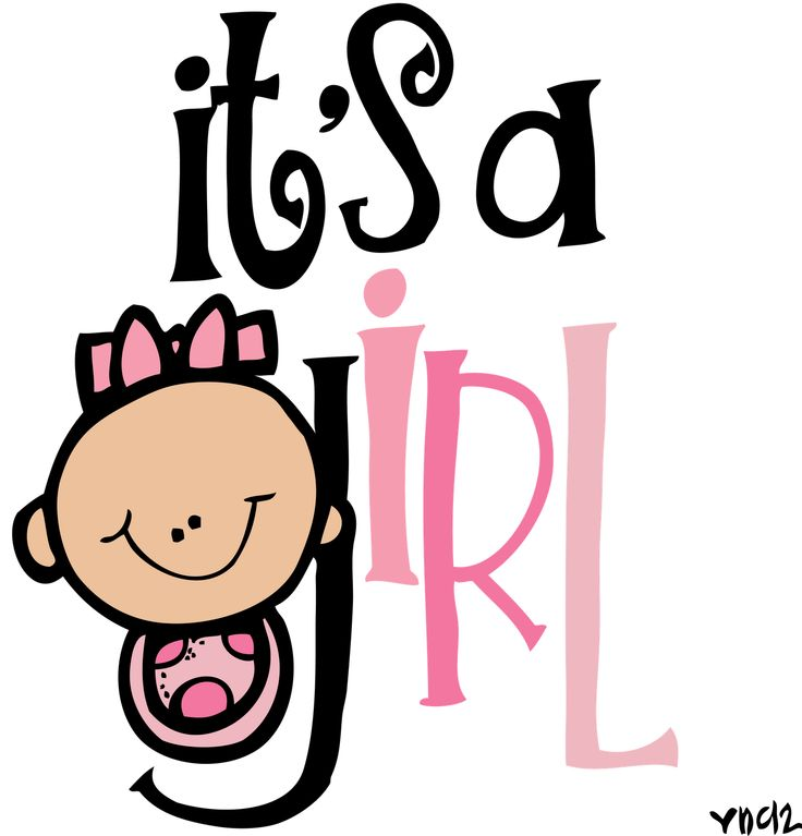 Clipart girl text png black and white download Its A Girl Clipart | Free download best Its A Girl Clipart on ... png black and white download