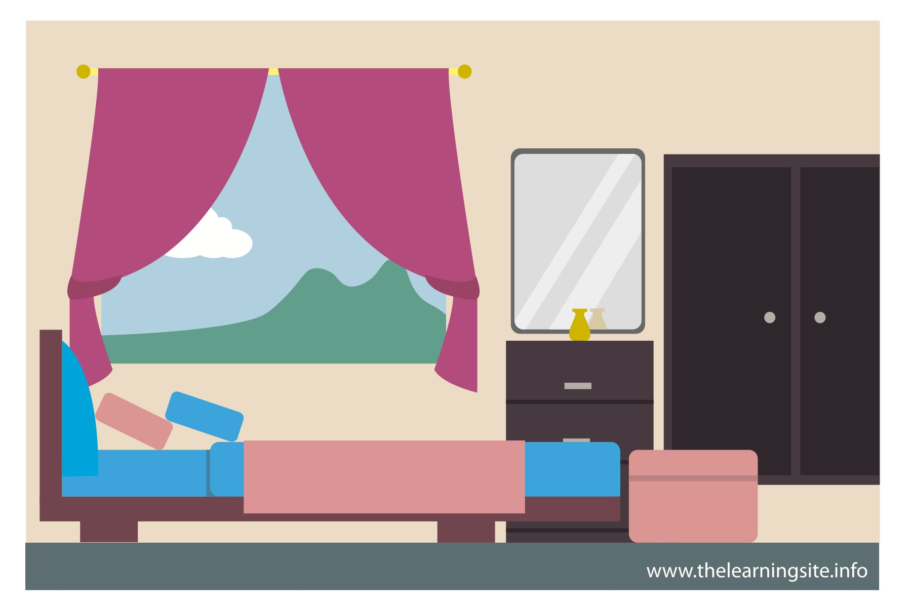 Clipart girls bedroom vector 102+ Clipart Bedroom | ClipartLook vector