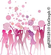 Clipart girls night banner transparent download Ladies Night Clip Art - Royalty Free - GoGraph banner transparent download
