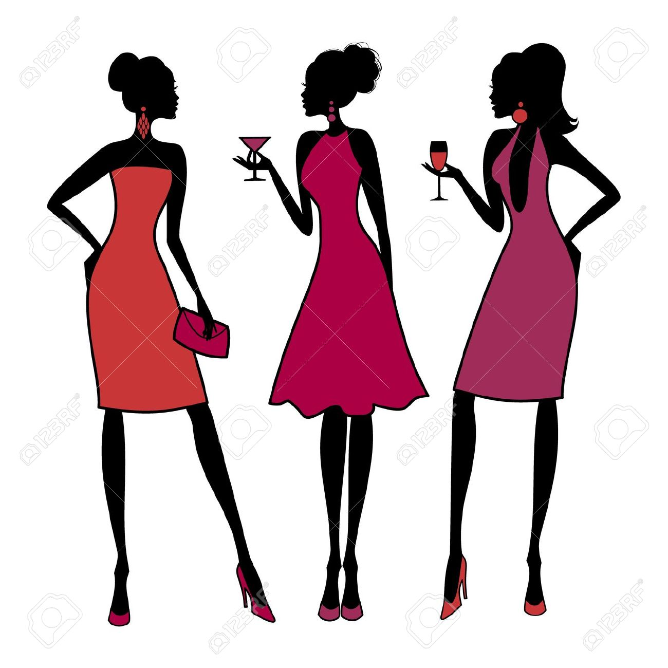 Clipart girls night picture free 15+ Girls Night Out Clip Art | ClipartLook picture free