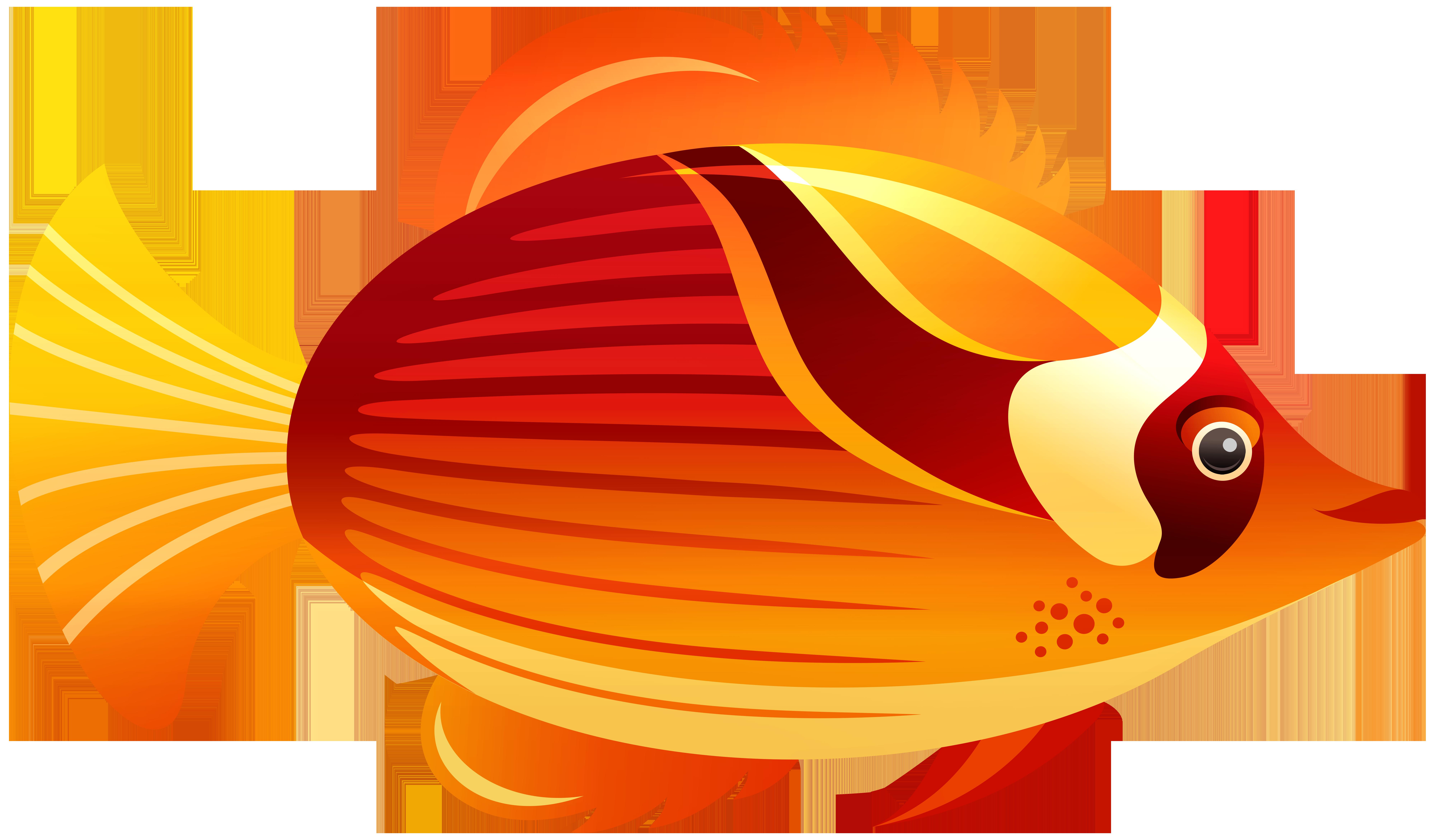 Clipart gish vector freeuse download Orange Fish PNG Clip Art - Best WEB Clipart vector freeuse download