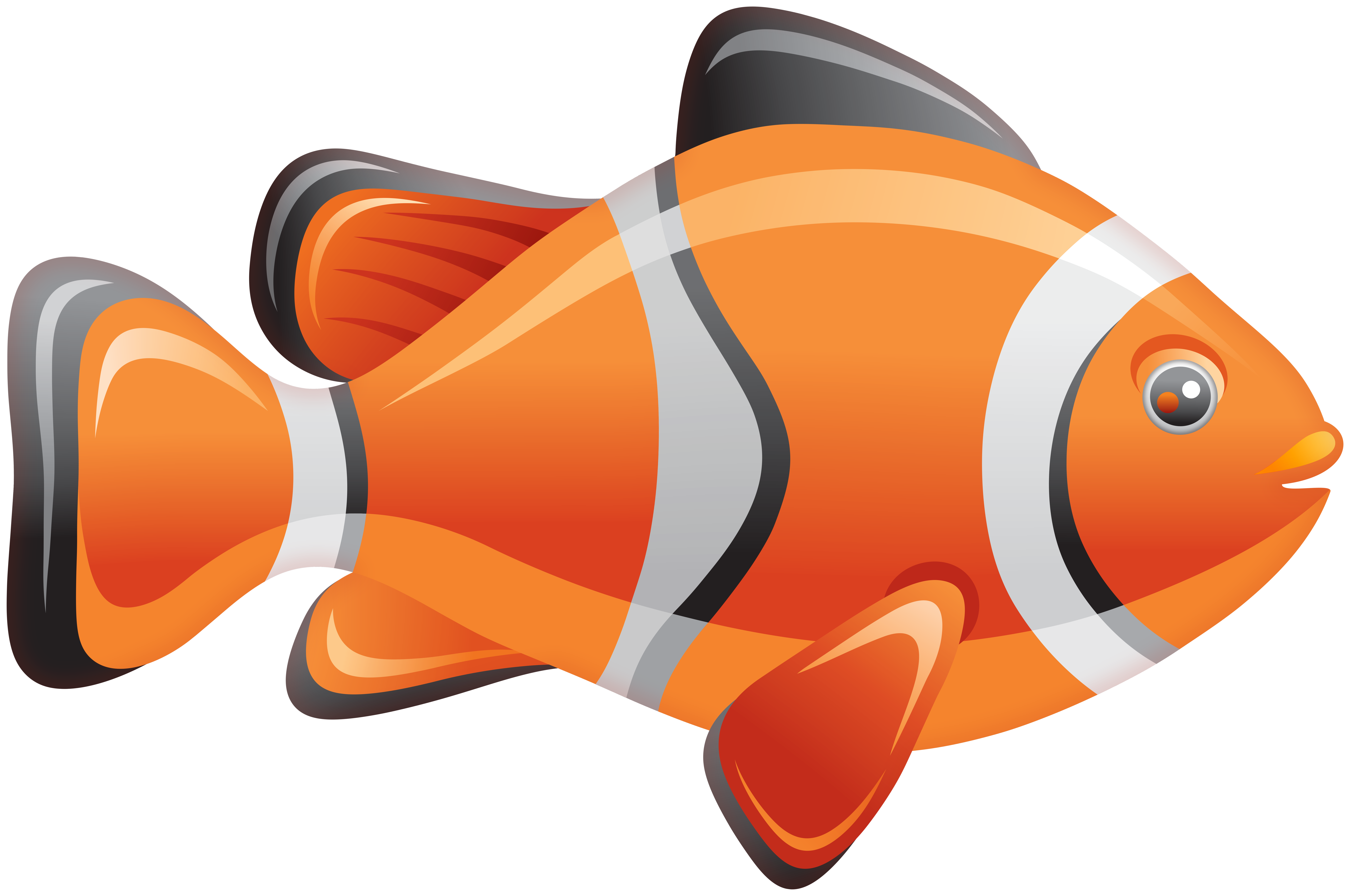 Clipart gish clipart royalty free download Clownfish Fish PNG Clip Art - Best WEB Clipart clipart royalty free download