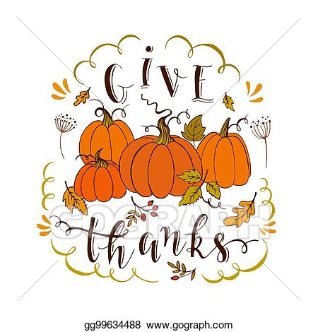Clipart give thanks graphic download EPS Vector - Give thanks card. Stock Clipart Illustration gg99634488 ... graphic download