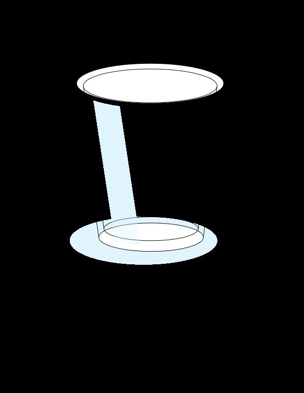 Tall glass of milk clipart